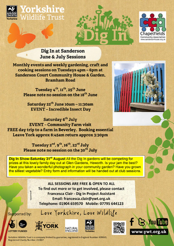 June and July events in Community Garden