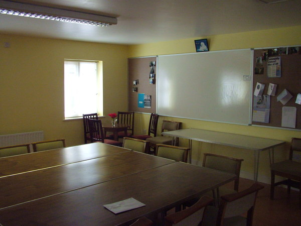 The training room at Sanderson House